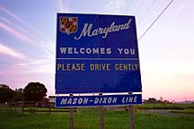 [ The Mason-Dixon line / Maryland border ]