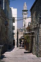 [ View in the Arab Quarter of Jerusalem ]