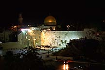 [ The Kotel at night ]