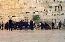 [ Maariv (evening prayers) at the Kotel ]