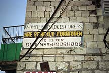 [ Warning to women entering Mea Shearim ]