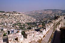 [ View from the ramparts of the the old city in Jerusalem ]