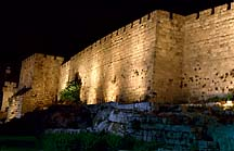 [ The walls of the old city of Jerusalem ]