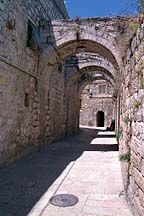 [ Arches over a Jerusalem street ]