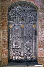 [ Kabalistic synagogue door, Jerusalem. ]