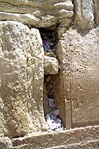 [Messages in the cracks of the Kotel ]